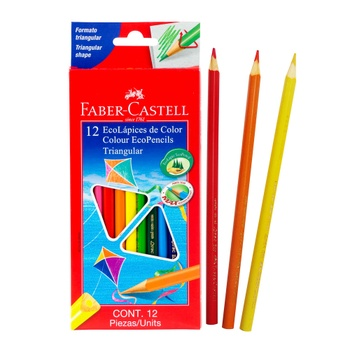 [70344] CRAYON MADERA 12 COLORES TRIANGULAR ECO PENCIL | FABER CASTELL