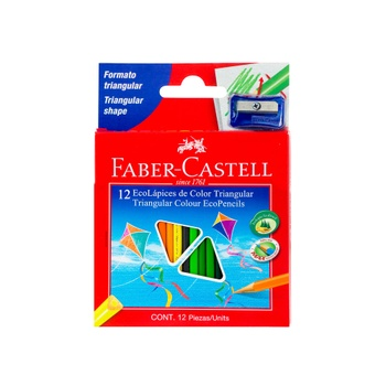 [70356] CRAYON MADERA 12 COLORES CORTO | FABER CASTELL