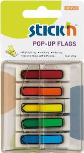 [90779] BANDERITAS POP UP 5 COLORES CON DISPENSADOR | STICK'N