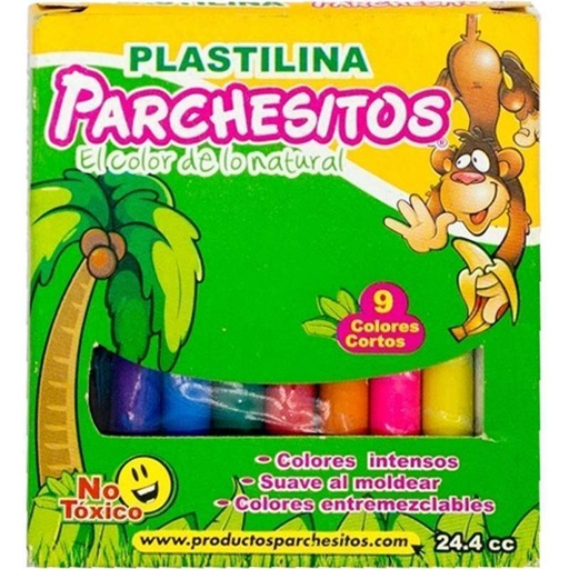 PLASTICINA 9 COLORES | PARCHESITOS